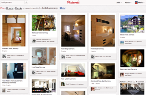 "Pinterest-Screenshot: Ergebnis der Suchanfrage ""Hotel Germany"""