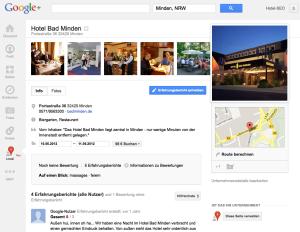 Google+ Local Unternehmensseite