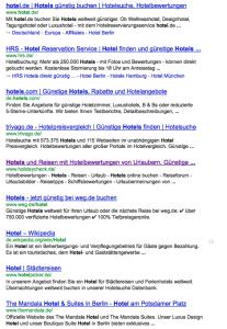"""Suchergebnisse für das Keyword """"Hotels"""""""