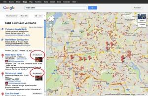 Google Hotel Finder: Berlin