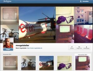 Instragram-Profil Mario Vogelsteller