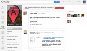 Google+ Communities gestartet