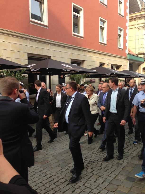 Bundestagswahlkampf 2013: Angela Merkel in Minden