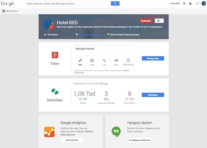Google My Business - Hotels und Restaurants für lokale Suche optimieren